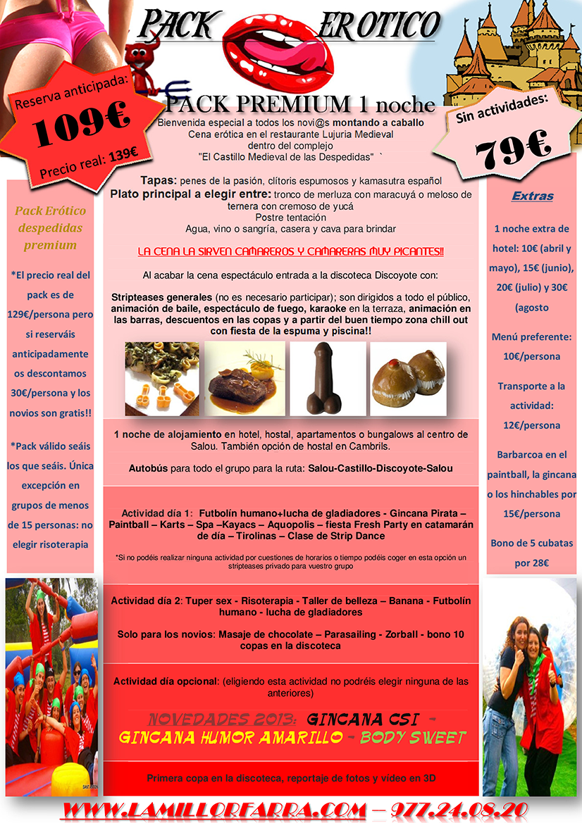 Pack Fin de Semana Restaurante Erotico